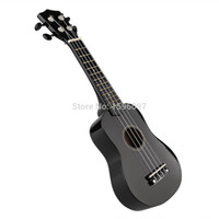 Solid vintage black guitar - Mini Professional Vintage quot Acoustic Soprano Hawaii Rosewood guitar Ukulele Music Student new black