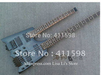 Wholesale Double neck headless Gray guitar String guitar amp String bass IN Chins