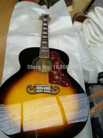 acoustic electric guitar - New Factory stock product Chibson J200 Sunburst guitar replica J200 electric acoustic guitar maple top handmade guitar