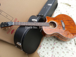 Wholesale New Factory Chaylor K24 acoustic guitar Vintage looking K24ce KOA electric acoustic guitar tree of life inlays