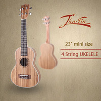 Passive Closed Type acoustic guitar strings sizes - High quality quot mini size Homeland Laminated zebra wood Soprano String ukulele Acoustic Instrument ukelele