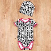 Unisex baby onesie pattern - Summer New Bron Baby Cute Infant Toddlers Baby Kids Cow pattern Onesie Romper Jumpsuit Baby Shower Gift Free Cap