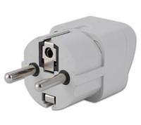 Wholesale Universal to Germany DE FR EU Schuko Travel Adaptor Adapter AC Plug new