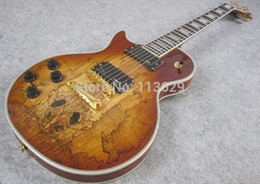 Wholesale-Lefty Electric Guitar, Body with Spalted Maple Top, Light Burst, Left Handed Guitar