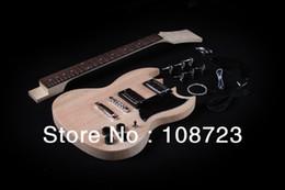 Kit mayor-SG estilo de la guitarra eléctrica con cuerpo de caoba colocada en el cuello Luthier sg body deals desde cuerpo sg proveedores
