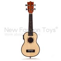Yes acoustic electro guitar - quot Soprano Ukulele Electro Acoustic Spruce Veneer EQ Tuner