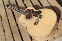 Passive Closed Type chibson - New Factory Chibson J200 flame maple acoustic guitar J200 electric acoustic Deluxe guitar spruce top acoustic