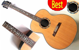 Wholesale High quality Jumbo acoustic guitar flower inlay inch for professional use