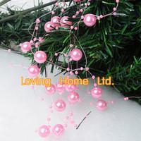 bead stuff - Meter Roll DIY Pink Wedding Decorating Acrylic Pearl Bead Bride Primp Stuff Bride Hair Decor Bead