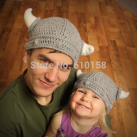 Cheap Wholesale-new baby winter cartoon hat,Handmade animal knitted hat for 1-3 years ,Christmas gift,Child pirate hats baby crochet hat DH00002