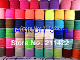 Wholesale-Free shipping 60colors FOE Fold Over Elastic 50 Yards roll 1.5cm Foldover elastic Headband Hair Ties YOU PICK 1 Color