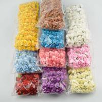 achat en gros de fleur scrapbooking gros-Gros-MIX 12 mini-COLOR papier artificielle fleur rose / Scrapbooking Mulberry Fleurs / Bricolage ORNEMENT COFFRET / 144pcs / SHIPPING beaucoup GRATUIT