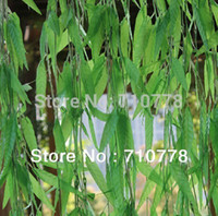 Wholesale M artificial salix leaf artificial flowers vine diy home garden supermarket decoration vine plant