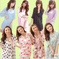 Wholesale Sexy Clothes For Women Sleep - Drop Shipping Cardigan Sexy Costumes Loose Spring And Summer Sleeping Clothes Women's Shirt, Pajamas for Women