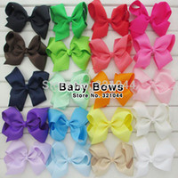 Wholesale Inch Big Ribbon HairBows For Girls Hair Accessories Hair Bow Without Alligator Clip Colors In Stock Free