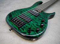 green leaves - hot selling Modulus Quantum Quilt String Bass Guitar Electric Guitar