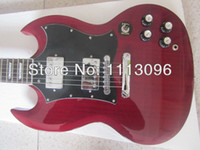 color flame - G lp SG G400 electric guitar with maple flame top Burgundy color guitarra guitar in china