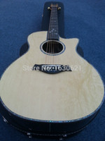 Wholesale New Factory Chaylor ce acoustic guitar handmade CE electric acoustic guitar solid spruce top Real Abalone