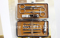 Wholesale man or woman stainless steel manicure set nail beauty set grooming kits Tool