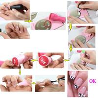 Wholesale DIY Nail Polish Stamper Set Stamping Nail Art Kit Nail Stamp Scraper Knife Image Paint Plate Design Styling tools