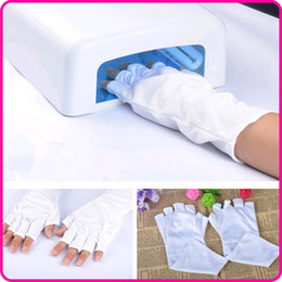 Wholesale Professional Nail Art Glove UV Lamp Radiation Protection Bamboo Fiber Gloves For Nail Art NR WS63