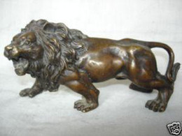 Wholesale Exquisite Collectibles Tibet bronze lion statue