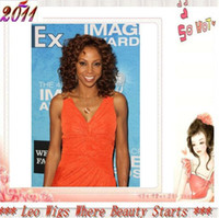 Wholesale African American holly robinson peete curly Celebrity Hairstyle quot Lace Front Remy Human Hair Wigs
