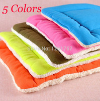 air kennel - Colors Cotton SOFT Fleece Pet Dog cat Bed House Pad kennel Plush Nest Warm Air Conditioning Pad Mat Pet dog cat bed S M L