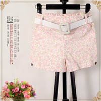alpha females - Alpha Bermuda Feminina Polka Dot Floral Summer Popular Female Shorts Elastic Waist Slim Women Print Straight Slim Shorts