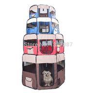 Gates & Pens iron fence - Pet Products D Oxford Folding Octagnal Dog Tent Portable Cat House Kennel Pen Cage Case Pet Playpen Dog Fence S M L XL