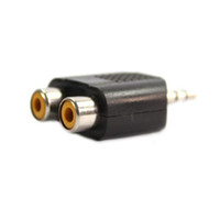 Wholesale 3 MM Stereo Male Audio Jack To RCA Female Splitter Adaptor Ship From USA CV108