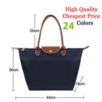 Folding Animal Print Bamboo Wholesale-Free Shipping Hot Sale French Designer Women's Nylon Bag, 14 Colors Nylon Handbags   Totes Bag, Nylon Tote Shopping Bag