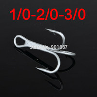 Wholesale pc fishhook Fishing Hook Overstriking Antirust Fishing Tackle High Carbon Steel Treble Hook White Matt Color