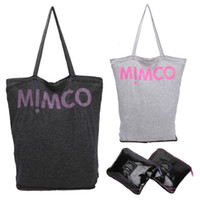 bamboo tote bag - New Brand Mimco Bags Cotton Cloth Folding Foldable Shopping Bag For Women Eco friendly Tote Shoulder Handbags