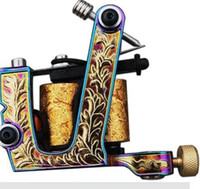 Wholesale BJT NEW Multi color Tattoo Machine Gun for Liner amp Shader Dual Wrap Coils Set