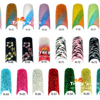 acrylic glitter pre mix - New Arrivial Acrylic Colors Mix Pre Design French Glitter False Nail Art Tips pack Colorful Nails