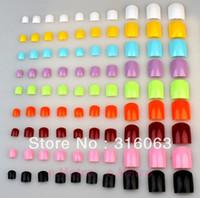 Wholesale Free Sshipping color x Set false Toenail for UV Gel Acrylic Mancure Toe Fake Toe Nails Tip With bag NA047