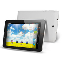 Bon Marché Android tablet with sim card slot-Gros-DOMITREE X5 7 pouces MTK6572 dual core Android 4.0 512M 4GB GPS BLUETOOTH FM GSM WCDMA 3G Tablet PC fente 3g carte SIM capacitifs