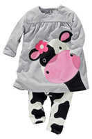 babies cow milk - children s clothing female child milk cow casual long sleeve twinset baby doll set girl sets sets