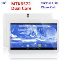 Gros-NOUVEAU! 10 pouces MTK6572 Dual Core 3G Phone Call tablet pc bluetooth GPS Wifi double caméra avec 2 Emplacement pour carte SIM