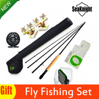 Heavy rod and reel - SeaKnight High Telescopic FLY FISHING RODS AND REELS SET For Trout Fly fishing Equipment Artificial Flies Pesca Com De Fly Gifts