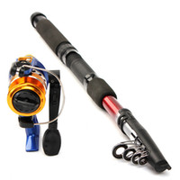 fly reel and rod - Hot selling Fishing Rod AND Reel Lure Fishing Reels spinning reel Fish Tackle Rods Carbon Ocean Rock