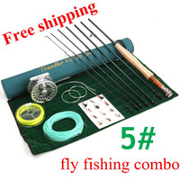 Wholesale Fast Action Carbon Fiber Fly Rod FT WT ALC WT Fly Reel WF5F Fly Line Fly Fishing Accessory Fly Fishing Combo
