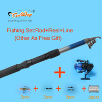 FRP fly reel and rod - Fishing Rod M Line AND Reel Lure Fishing Reels spinning reel Fish Tackle Rods Carbon Ocean Rock Lure As Free Gift