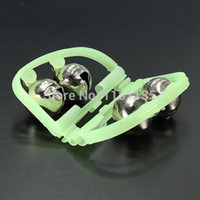 Wholesale Fluorescent Fishing Rod Tip Clip Twin Bell Alarm Alert Ring Glow In The Dark Plastic Alloy