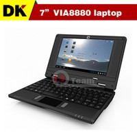 Cheap Wholesale-Cheap 7 inch via 8880 mini notebook laptop Android 4.0 windows ce system 1GRAM 8G ROM Android notebook laptop with webcam