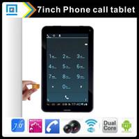 Gros-7 pouces tablette 2G appel téléphonique Android 4.2 tout gagnant A23 512M 8 Go double tablette caméra avec carte SIM fente gsm comprimés 7inch bon marché