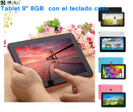 Wholesale quot Dual Core G Android WIFI Dual Cameras inch Tablet PC with Keyboard Case Download APPS from Google Play