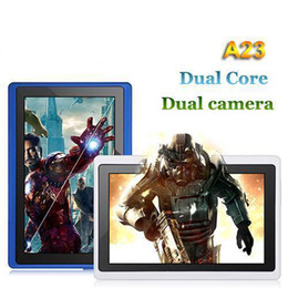 Wholesale-Q8H: 7 Inch Allwinner A23 Tablet PC android 4.2.2 Dual core 1.5GHz 512MB 4GB Dual Camera Bluetooth WiFi OTG