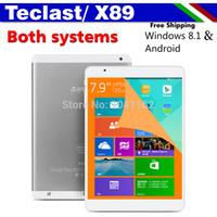 Quad Core Android 4.4 2GB Wholesale-Teclast X89 Dual Boot Windows 8.1 Intel Bay Trail-T 64 Z3735F Tablet PC 7.9'' IPS Retina Screen 2048X1536 Bluetooth 2G